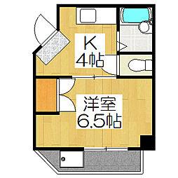 イーストハウス[105号室]の間取り