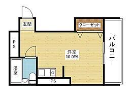 ムーンライト大桐[3階]の間取り