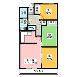 センチュリー21[4階]の間取り