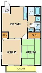 兵庫県神戸市西区玉津町今津の賃貸アパートの間取り