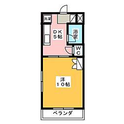 クラウディア[4階]の間取り