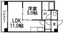 第88松井ビル[207号室]の間取り
