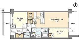 東急田園都市線 たまプラーザ駅 徒歩3分の賃貸マンション 6階2SLDKの間取り