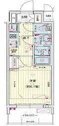 プレサンス THE MOTOYAMA[5階]の間取り