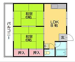 コーポ上野[1階]の間取り