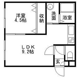 ドライエポック文京台[2階]の間取り