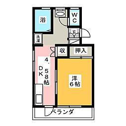 佐昭コーポ[3階]の間取り