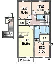 (仮)三室町シャーメゾン[2階]の間取り