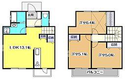 [テラスハウス] 東京都東村山市恩多町4丁目 の賃貸【/】の間取り