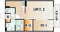 カノン[2階]の間取り