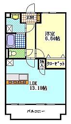 グランマーレ[4階]の間取り