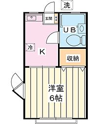 レクス堀江[1階]の間取り