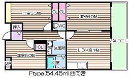 阪神ハイグレードマンション12番館[7階]の間取り