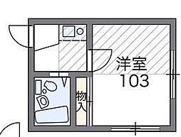 埼玉県草加市新善町の賃貸アパートの間取り