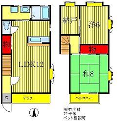 [テラスハウス] 東京都葛飾区西水元1丁目 の賃貸【/】の間取り