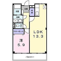 大阪府和泉市王子町2丁目の賃貸マンションの間取り