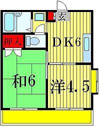 ジュネパレス松戸第16[4階]の間取り