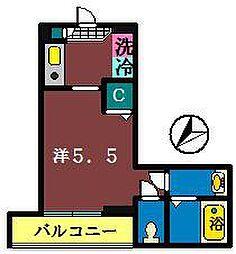 ライフステーション船橋[203号室]の間取り