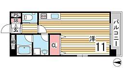 Bonheur恋野 3階ワンルームの間取り
