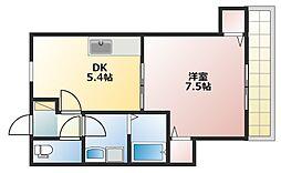 セレーノ上ノ丸[1階]の間取り