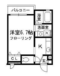 東京都江東区猿江1丁目の賃貸アパートの間取り