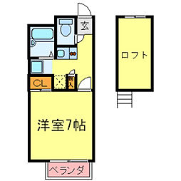 兵庫県神戸市西区伊川谷町潤和の賃貸アパートの間取り