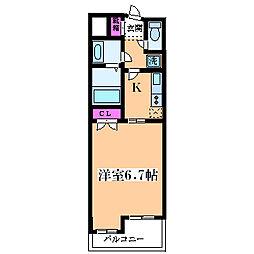 メロディア塚本[705号室]の間取り