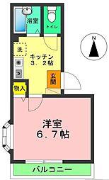クロスガーデン[2階]の間取り