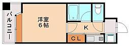 ピュアドーム高宮アーネスト[7階]の間取り