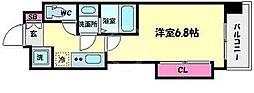 Luxe難波西III[7階]の間取り