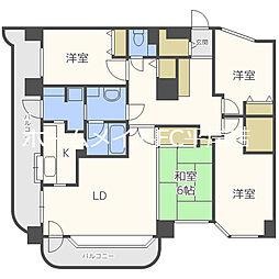 ライオンズマンション南平岸[2階]の間取り