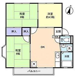 千葉県佐倉市中志津3の賃貸アパートの間取り