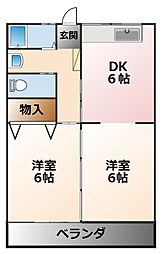 甲子園ファイブ[1階]の間取り