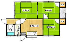 [一戸建] 愛媛県新居浜市中村3丁目 の賃貸【愛媛県 / 新居浜市】の間取り