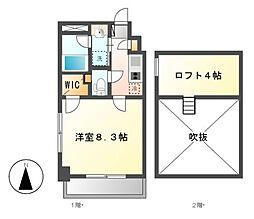 タウンライフ名駅[7階]の間取り