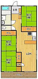 ドゥエリング北夙川[3階]の間取り