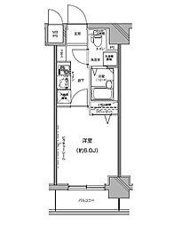 Le'a Yokohama Chuo[レア横濱中央][5階]の間取り