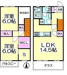 [テラスハウス] 東京都足立区西保木間2丁目 の賃貸【/】の間取り