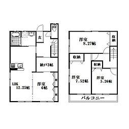 [テラスハウス] 静岡県浜松市西区西山町 の賃貸【/】の間取り