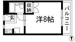 大阪府池田市天神2丁目の賃貸マンションの間取り