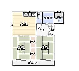 土川マンション[302号室]の間取り