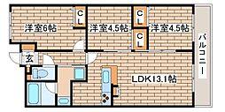 ワコーレ須磨板宿フリーディア[5階]の間取り
