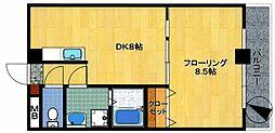 ホウレンハイツ森田[502号室]の間取り