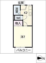 ステージ21 D棟[1階]の間取り