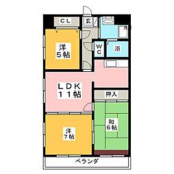Uステージ[3階]の間取り