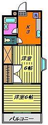 コーポエクセル[2階]の間取り