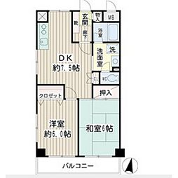 リバーサイドビレッジ[3階]の間取り