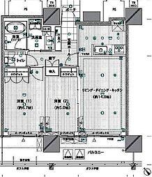 グランドメゾン池下ザ・タワー 7F[7階]の間取り