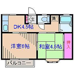 ミヤマハイツ菊名[2階]の間取り