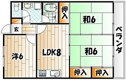 小倉南センタービル(KMCビル)[3階]の間取り